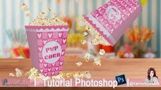 Caja De Palomitas // Box Popcorn: Tutorial Photoshop Candybar @karmenquesada .