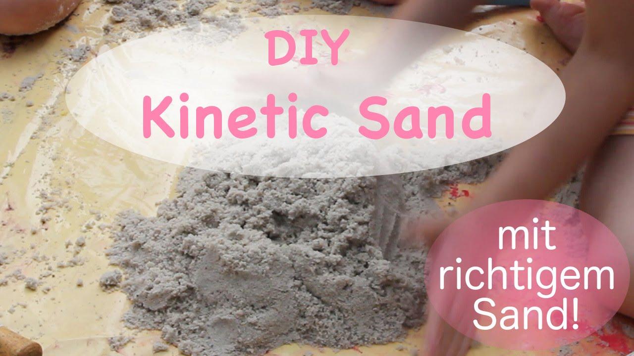 diy kinetic sand zaubersand mit echtem sand kokos l. Black Bedroom Furniture Sets. Home Design Ideas