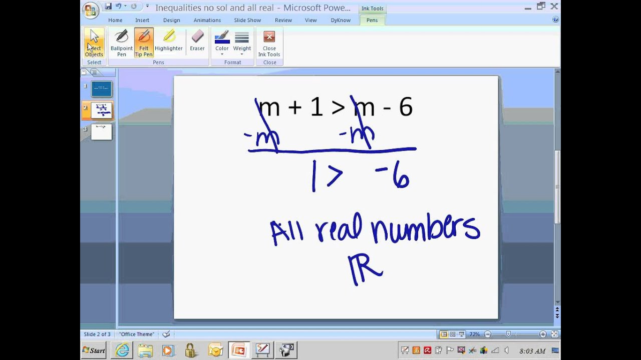 real number and inequality