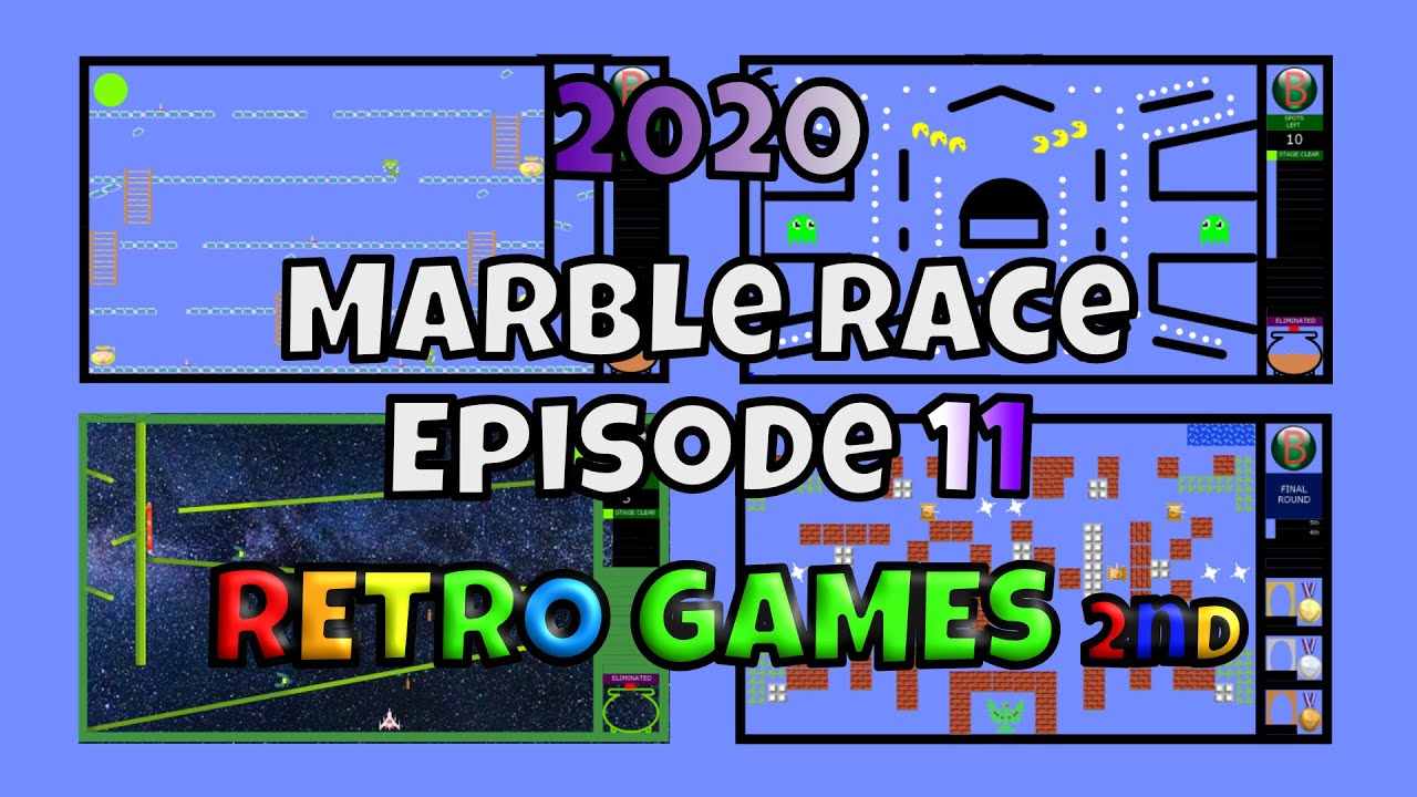 2020 New Marble Race Survival Episode 11 - Retro Games 2nd