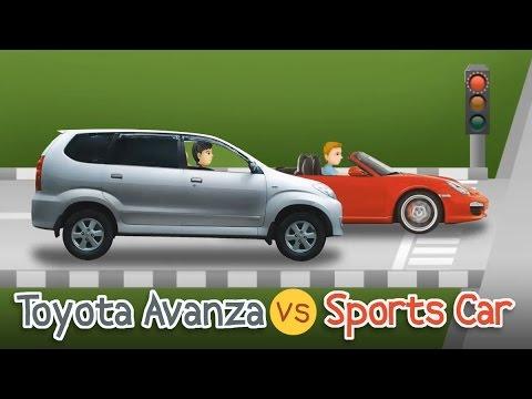 Kartun Lucu - Toyota Avanza vs Sports Car | Cerita Cinta Indonesia - Rizky Riplay