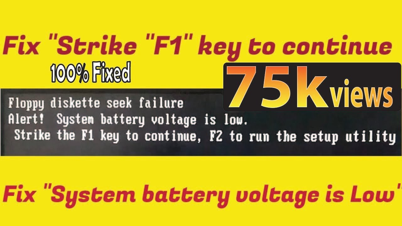 Fix Strike F1 To Continue And System Battery Voltage Is Low