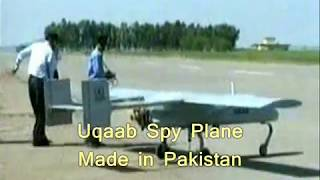Pakistani made UQAB Spy Drone Test & Air Chief fly past