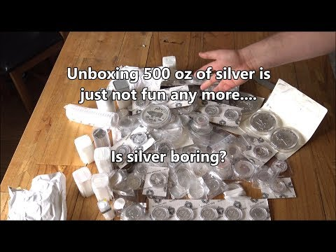 Silver Stacking fatigue - Unboxing 500 oz of silver does not excite me anymore!