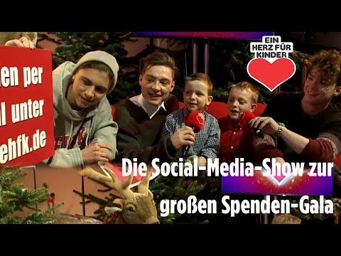 """Die Social-Media-Show zur großen Spenden-Gala - """"Ein Herz für Kinder"""""""