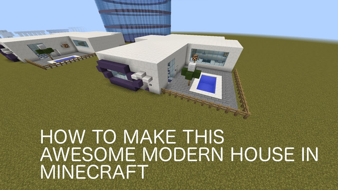 How To Make A Flat  Story Modern House In Minecraft YouTube - Modern house 1 story