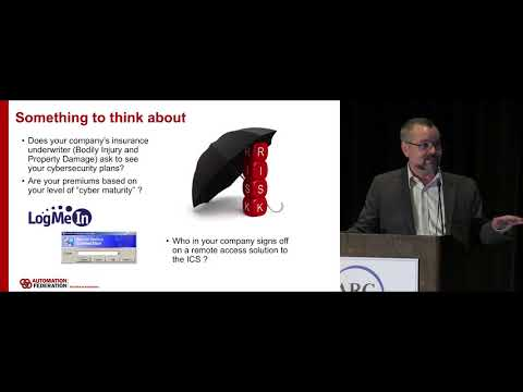 Industrial Control Systems Cybersecurity - Marty Edwards, Automation Federation - ARC 2018 Forum