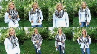 How to Style a Blanket Scarf |…