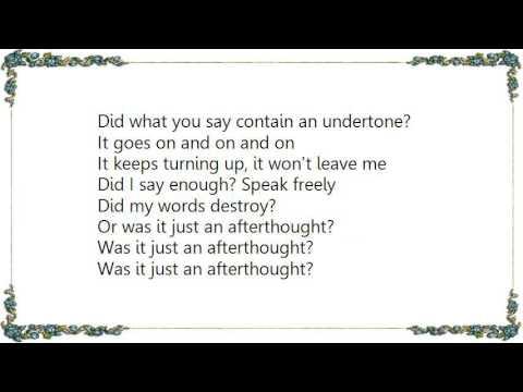 Disclosure - Afterthought Lyrics