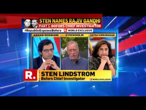 Republic TV interviews Sten Lindstrom #RepublicExposesBofors