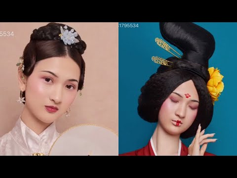 gorgeous-chinese-old-traditional-tan-hairstyles-tutorial