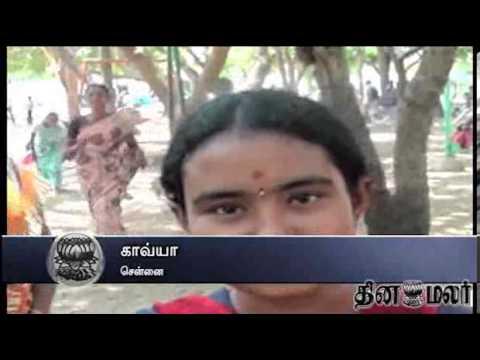 People in Trichy Move to Mukkombu to cool them in Blazing hot Sun - dinamalar news