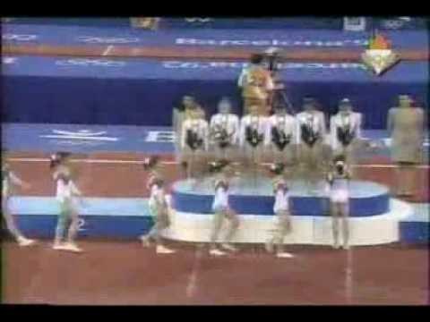 1992 Olympic Games Gymnastics - Team Medal Ceremony
