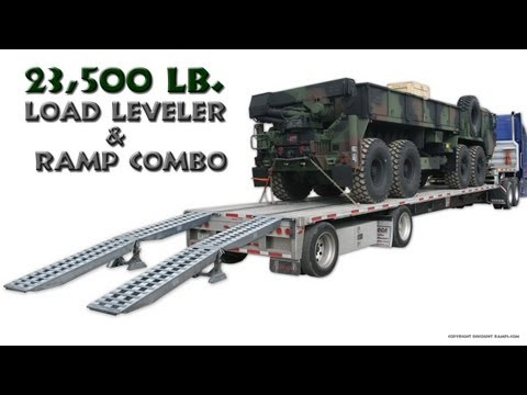 Step Deck Trailer Ramp And Load Leveler Combo