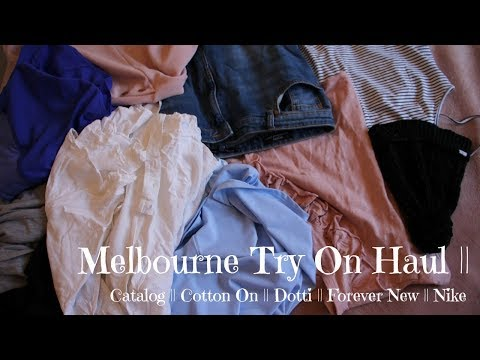 Melbourne Try On Haul || Catalog; Cotton On; Dotti; Forever New; Nike