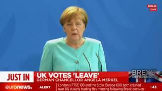 Angela Merkel press conference after Brexit (recorded live)