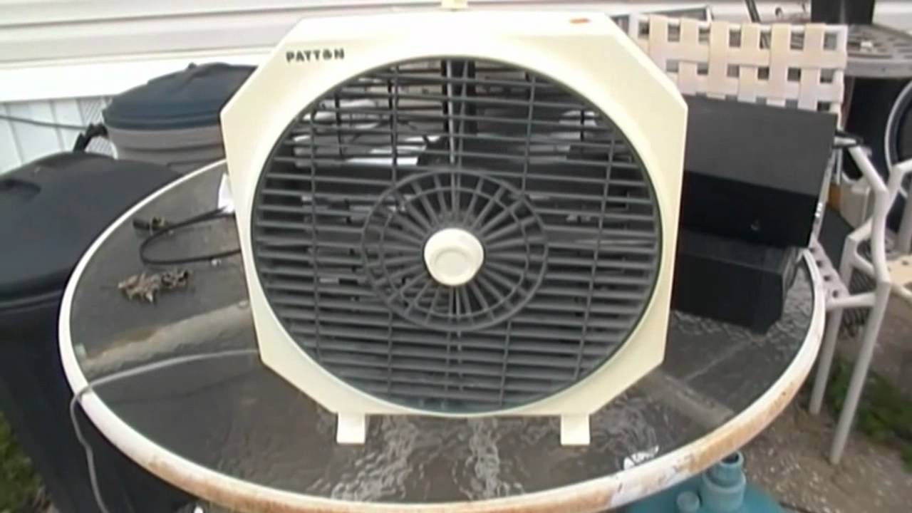 Patton Rotating Grill Fan Model Ca 1284 Youtube