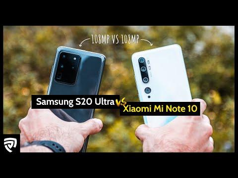 Samsung Galaxy S20 Ultra VS Xiaomi Mi Note 10 : Battle of the 108MP!