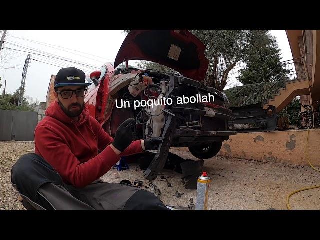 Montando eje derecho Fiat 500 | Parte 2 | Axial direccion y rotula direccion | La Bola roja