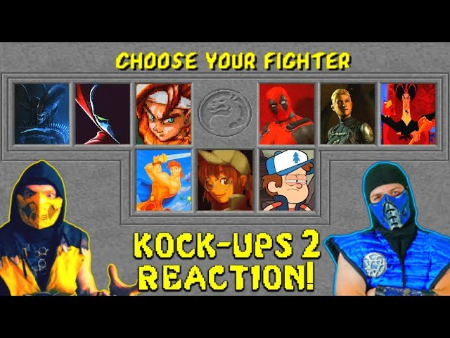 REAL MORTAL KOMBAT REACTS - Mortal Kombat Kock-Ups 2 | MKX ANIMATION PARODY!