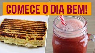 CAFÉ DA MANHÃ SAUDÁVEL COMPLETO | Receitas Fitness Fáceis para começar a semana!