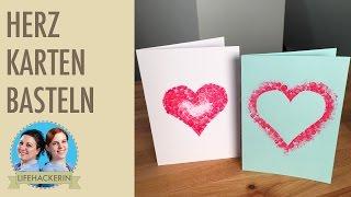 Herz Karte basteln | Valentinstag Herz Karten