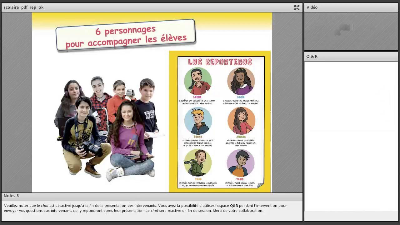 Présentation En Ligne De Reporteros 5e Méthode D Espagnol Collège