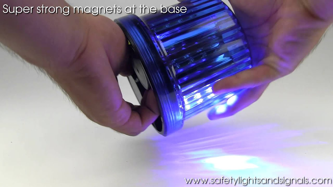 Rotating Led Beacon Light Youtube