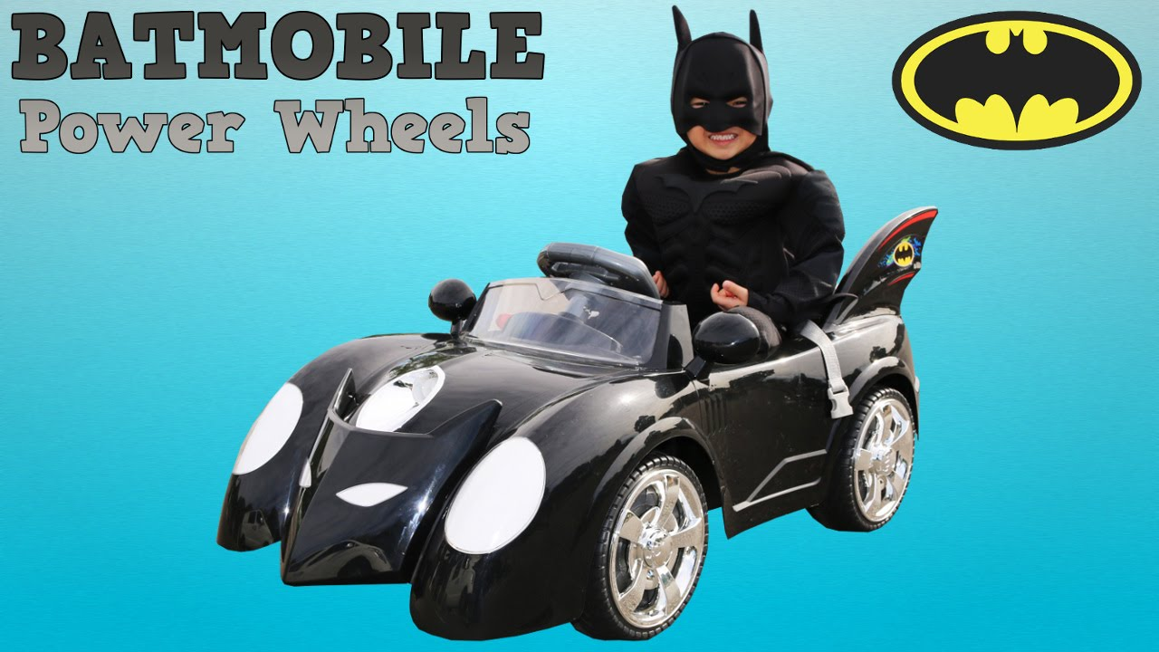 Unboxing New Batman Battery Powered Ride On Batmobile 6v Test Drive