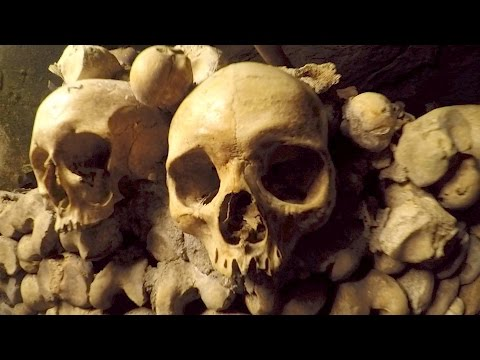 Exploring Paris Catacombs -HUMAN SKULLS AND BONES- #3