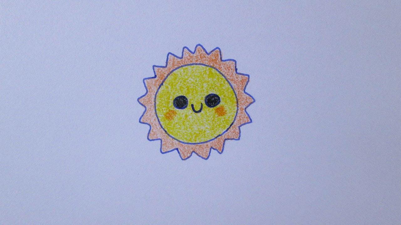 Cmo dibujar un sol kawaii  YouTube