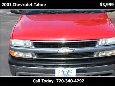 2001 chevrolet tahoe used cars longmont co youtube for Victory motors trucks longmont