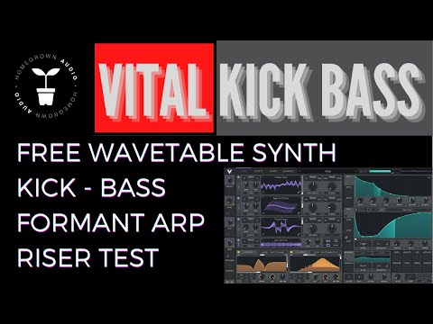Vital Sound Design: VITAL KICK & BASS + FORMANT ARP + RISERS + WORKFLOW / Vital Wavetable Synth