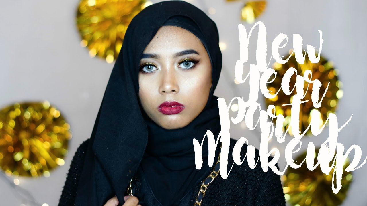 New Year Eve Party Makeup Tutorial Dara Nitya Youtube Inez Fine Line Eyeliner Black