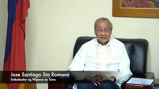 Marubdob na pagbati para sa ika-70 kaarawan ng Tsina, ipinahayag ng embahador Pilipino