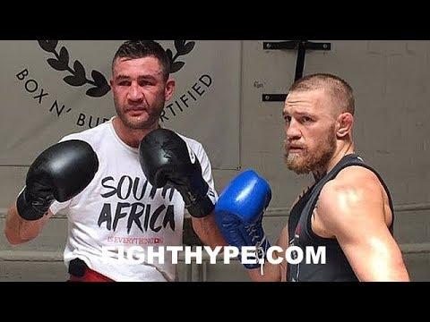 MCGREGOR EX-SPARRING PARTNER VAN HEERDEN EXPLAINS WHY MAYWEATHER WILL EMBARRASS AND TKO HIM IN 6