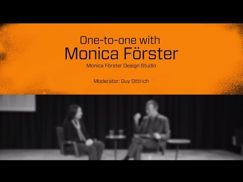 Stockholm Design Talks - One-to-one with Monica Förster