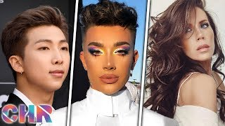 james charles spotted out amid scandal bts rm suffers show flub