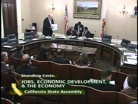 Assembly Job, Economic Development and the Economy 4/20/2010