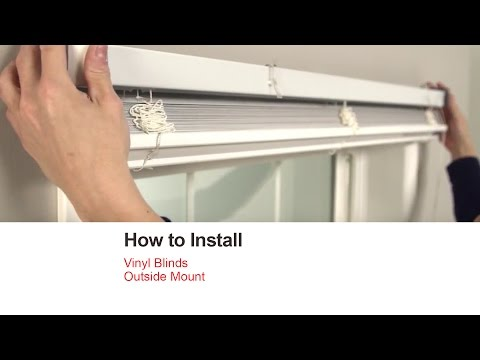 Bali Blinds How To Install Vinyl Outside Mount