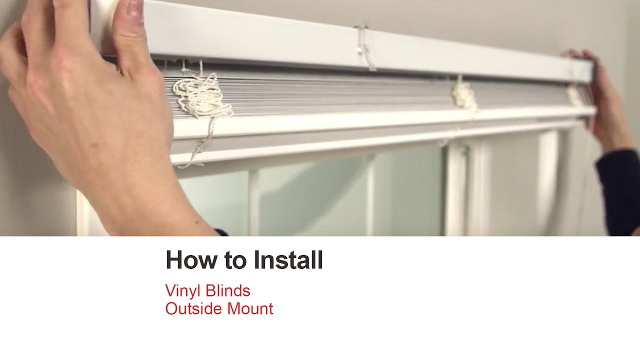 how to install blinds Bali Blinds | How to Install Vinyl Blinds   Outside Mount   YouTube how to install blinds