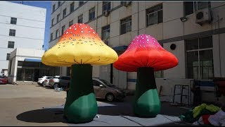 Ground Colorful Inflatable Mushroom How To Decorate Wedding Stage Decorations