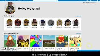 logging into JBL boy's roblox account