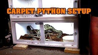 Setting Up A Carpet Python Cage