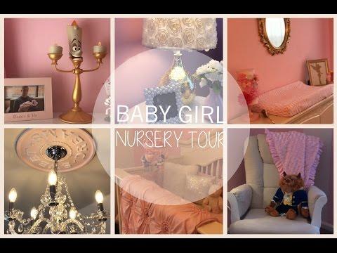 BABY GIRL NURSERY TOUR!   PRINCESS NURSERY   CHIC NURSEREY   PINK, WHITE AND GOLD NURSERY