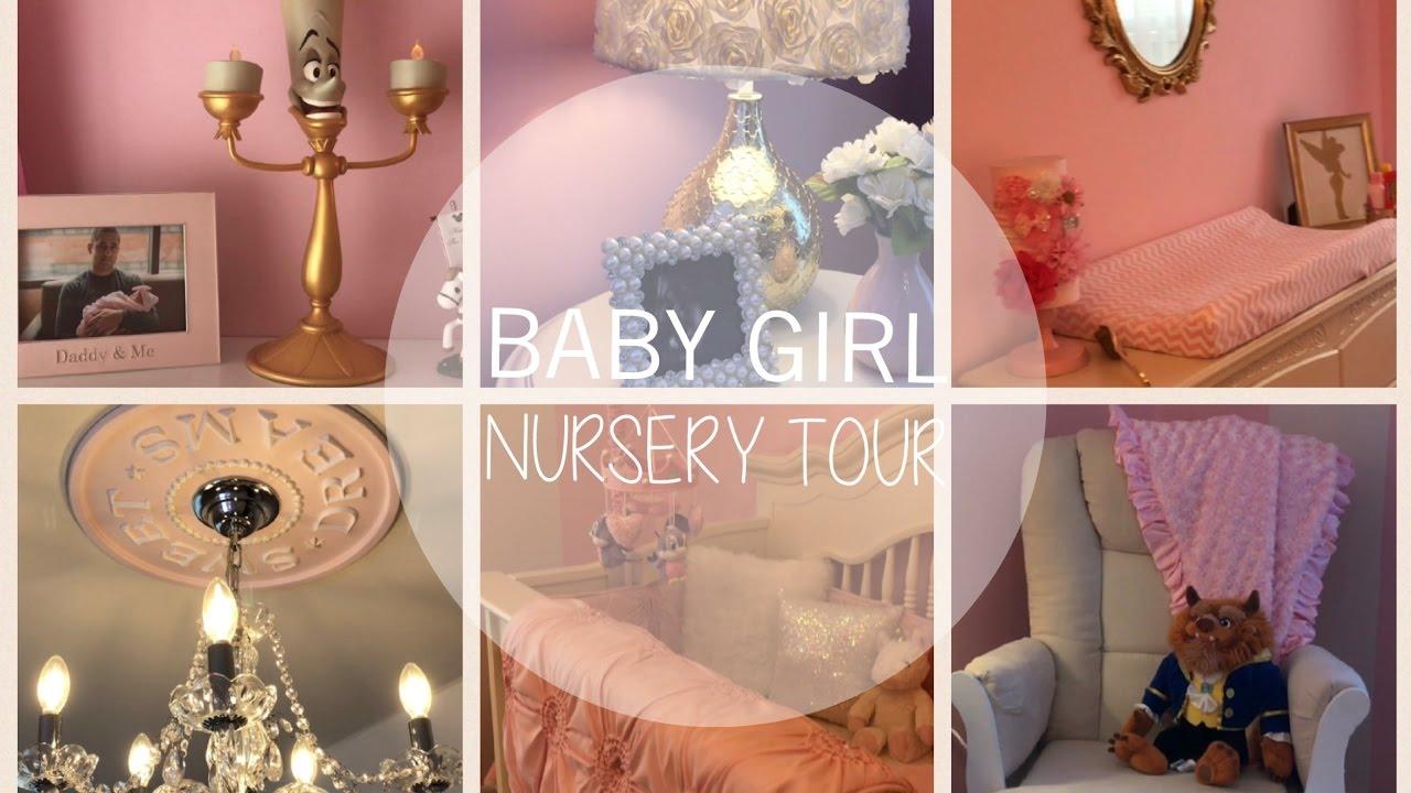Baby Girl Nursery Tour!  Princess Nursery  Chic Nurserey