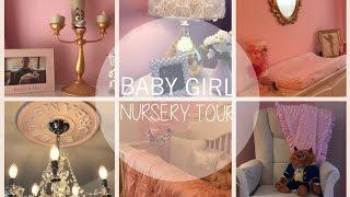 BABY GIRL NURSERY TOUR! | PRINCESS NURSERY | CHIC NURSEREY | PINK, WHITE AND GOLD NURSERY