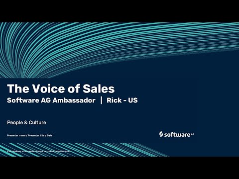 The Voice of Sales | Software AG's ambassador Rick | US