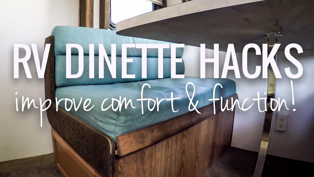 RV Dinette Hacks to Improve Comfort  Function  RV