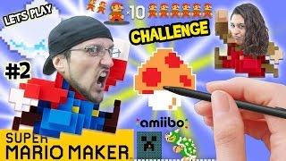 Lets Play SUPER MARIO MAKER! Dad vs. Mom 10 Mario Challenge & Brick Busting FGTEEV Fun